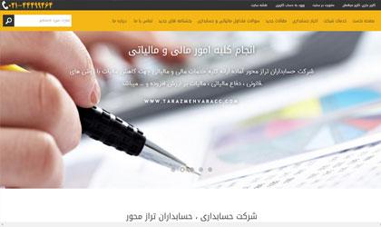 طراحی وب حسابداران تراز محور
